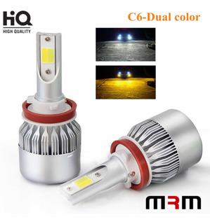 Focos Luces Led H4 Bicolor Doble Color 76w 11000lm Potentes