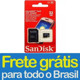 Cartão De Memória Sandisk Micro Sd 32gb Classe 4 C Nfe Frete