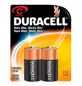 Pilha Media C Duracell Cart. C/2 Unidades Original