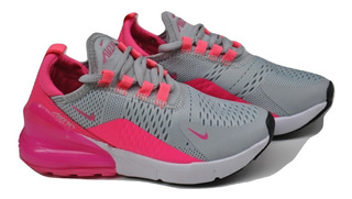 Kp3 Zapatos Niñas Nike Air Max 270 Gris / Fucsia