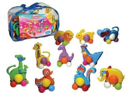 Brinquedos Animais Coloridos 10 Peças