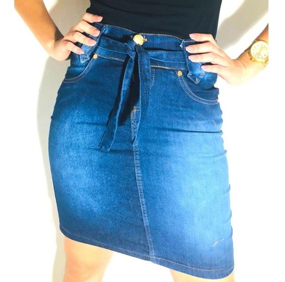 Saia Jeans Feminina Evangélica Barata 5 Peças Sortidas