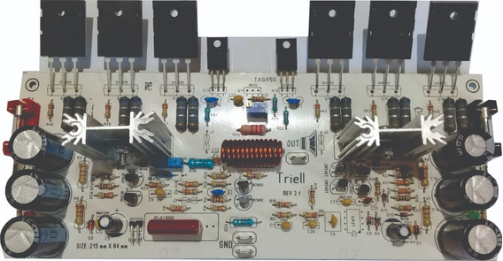 Amplificador De Áudio De 450w Ab Placa Montada
