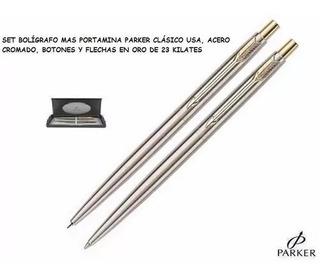 Set Parker Usa Originales, Bolígrafo Mas Porta Minas.