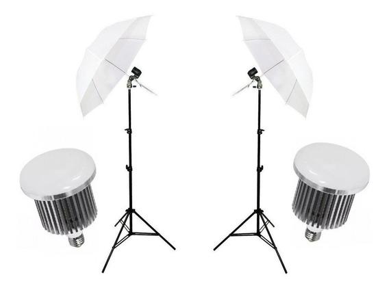 Kit E27 Iluminação Para Estúdio Fotográfico C/ Lamp Led