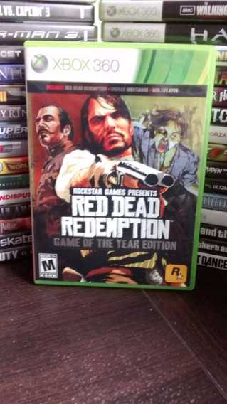 Red Dead Redemption Game Of The Year Xbox 360 Original