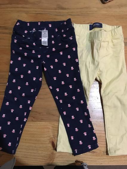 2 Pantalones Para Niña Carters Y Old Navy 2 Años