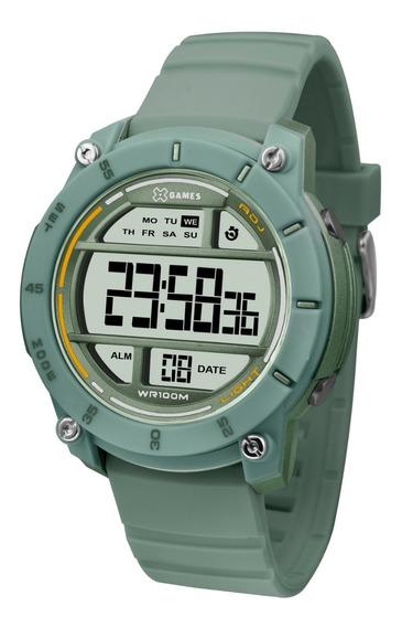 Relógio X-games Feminino Digital Xmppd524 Verde Lançamento