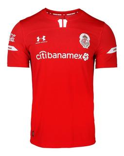 Jersey Armour Jugador Deportivo Toluca Local Para Caballero