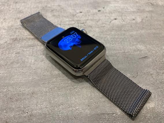 Apple Watch 42 Mm Acero Inoxidable Pantalla Saffiro Series 0