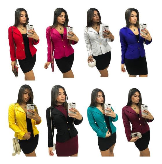 Blazer Feminino, Fashion, Ótima Qualidade E Tecido