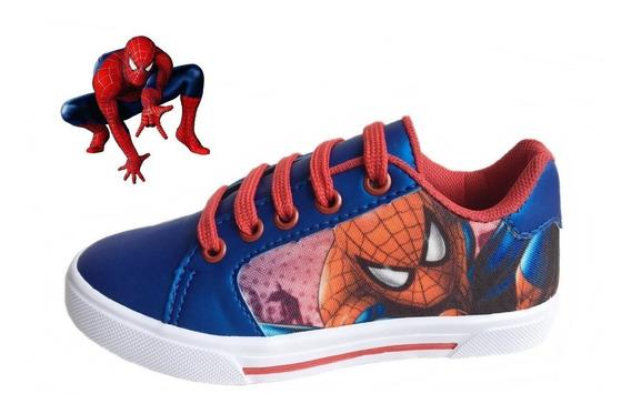 Tênis Infantil Para Crianças Desenhos Spider Homem Aranha