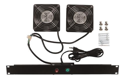 Imagem 1 de 1 de Kit De Ventilação Para Rack 2 Ventiladores Padrão Univ 19