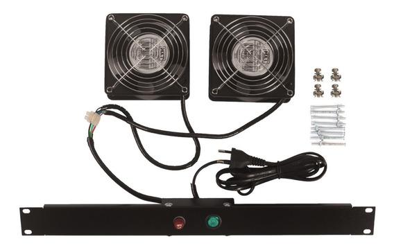 Kit De Ventilação Para Rack 2 Ventiladores Padrão Univ 19