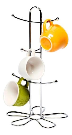 Porta Tazas Para 6 Tazas Acero Inox Soporte Organizador