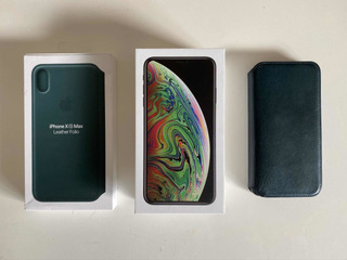 iPhone XS Max 256gb + Leather Folio Com Película