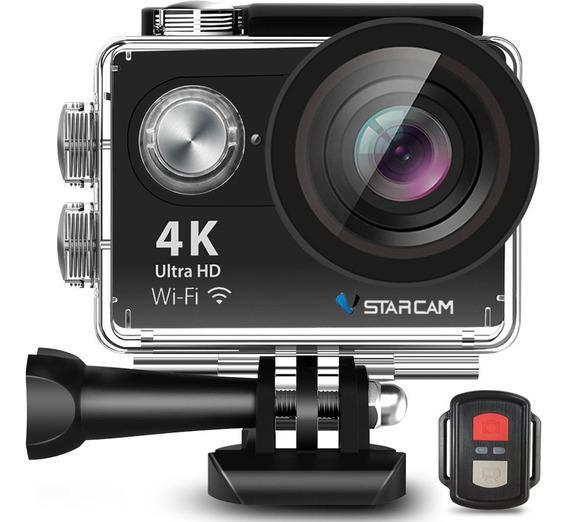 Camara Deportiva Sumergible Ultra Hd 4k 16mp Wifi + Control Remoto Con Accesorios Video Filmadora Vstarcam
