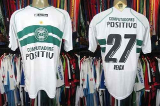 Coritiba 2008 Camisa Titular Tamanho Gg Número 27 Veiga.