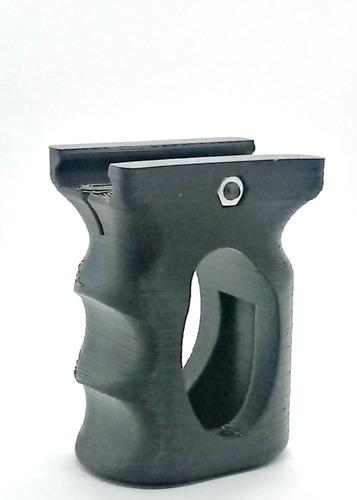 Imagem 1 de 8 de Front Grip Foregrip Vertical Cqb Vazado 20mm  Airsoft -3dga