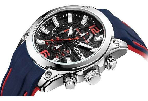 Relógio Megir 2063 Ponteiros Funcionais + Frete Grátis