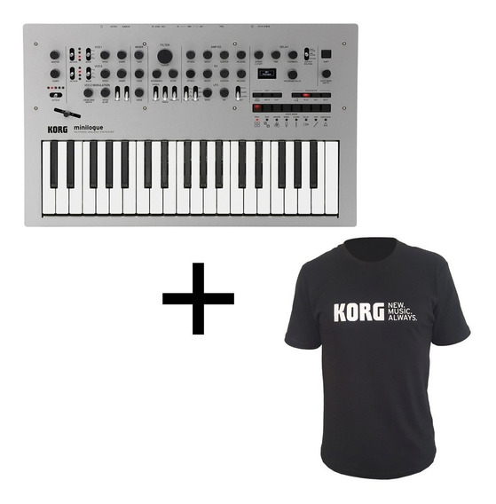 Teclado Korg Minilogue Sintetizador Polifônico + Camiseta G