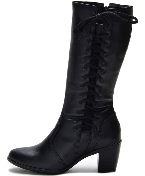 Bota Country Feminina Montaria Regulagem Panturrilha