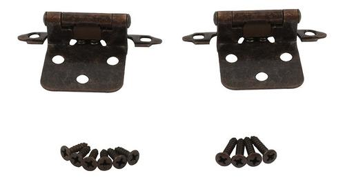 Imagen 1 de 3 de Juego Bisagra Americana Parche Cobre Antiguo C/tornillos 10p