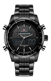 Relógio Masculino Naviforce Esportivo Luxo Original Couro