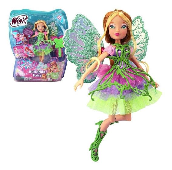 Winx Boneca Club Butterflix Fairy - Flora - 30 Cm - Original