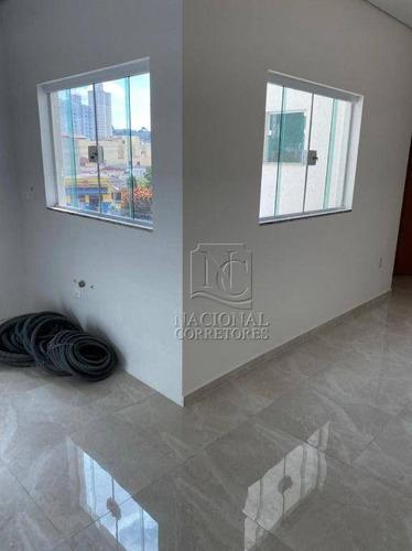 Cobertura Com 2 Dormitórios À Venda, 80 M² Por R$ 280.000 - Bangu - Santo André/sp - Co4363