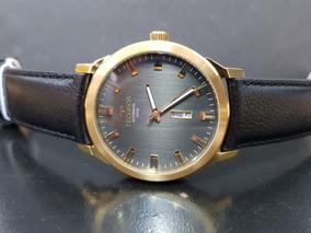 Relógio Technos Automático Calendário Duplo 8205og/2p