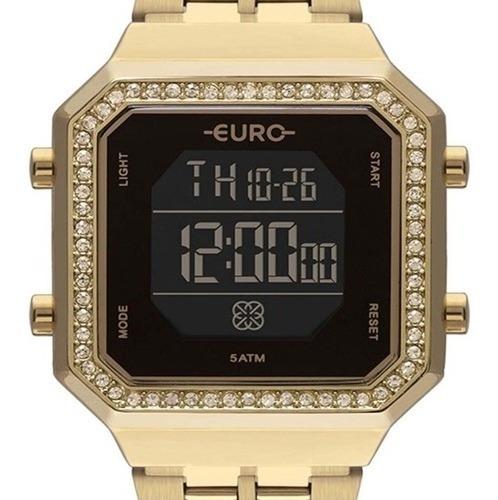 Relógio Euro Feminino Fashion Fit Dourado Eubjk032ab 4p
