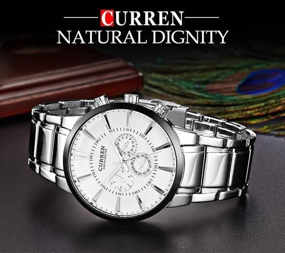 Relógio Curren Luxo Cronometro Prova Dágua 8001ag