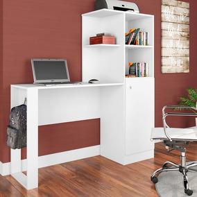 Escrivaninha Com Estante E Porta 1,28m Es1300 Califórnia