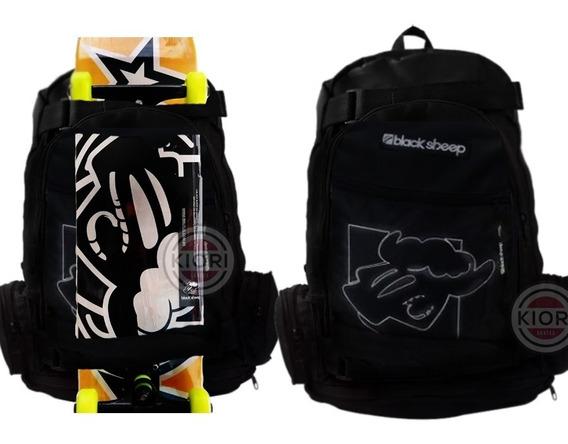 Mochila Escolar E De Skate Notebook Black Sheep Fiber