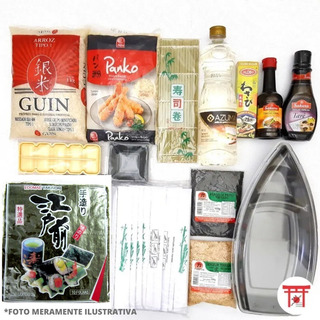 Kit Sushi / Hot Roll 1 - Completo Com Barco