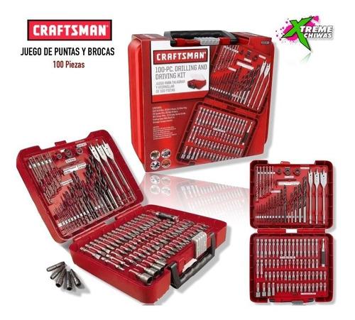 Herramienta Craftsman Juego Puntas Y Brocas 100 Pzas Xtm P