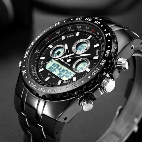 Relógio Readeel Masculino Esportivo Militar Digital Dual Time Natação Mergulho Multifuncional Promoção