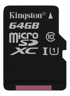 Micro Sd Kingston Canvas Select 64gb Clase 10 80 Mb Read Hd