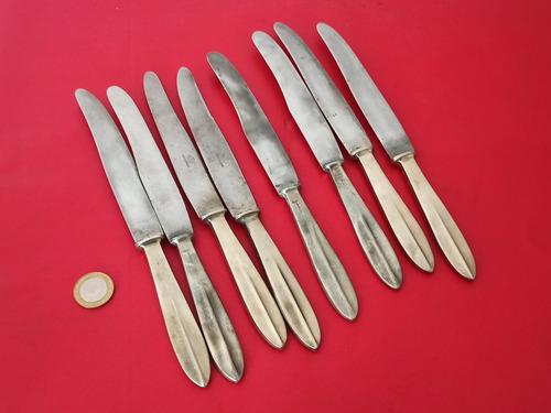 Cuchillos De Mesa Antiguos - Acero Inox Romeo - Cabo Alpaca