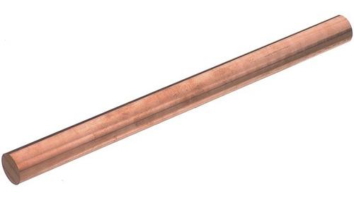 Barra Cobre Redondo Puro 3/8 Pol (9,52mm) X 50 Cm