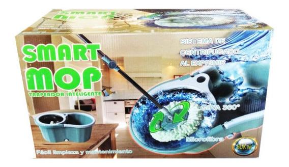 Trapeador Inteligente De Microfibra Giratorio Smart Mop