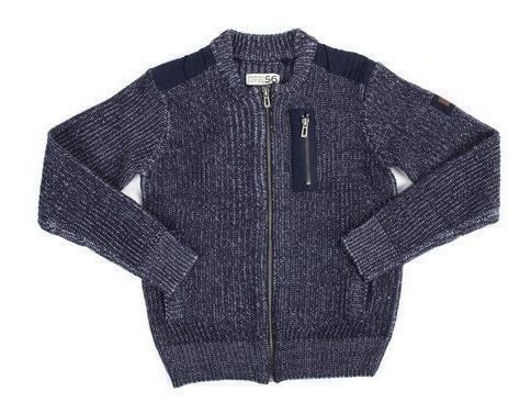 Parish Sweater Con Cierre Color Azul Navy 5t