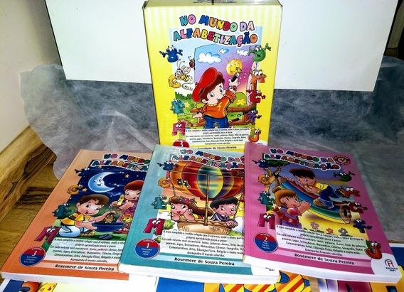 Coleção No Mundo Da Alfabetização - 3 Volumes + 8 Cartazes