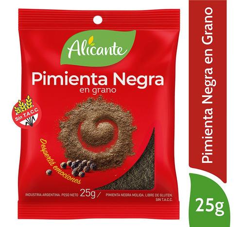 Alicante Pimienta Negra En Grano X 25 Gr