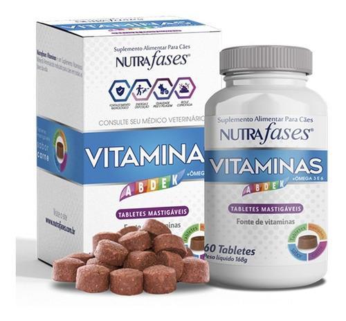 Imagem 1 de 4 de Suplemento Alimentar Cães Nutrafases Vitaminas 60 Tabletes