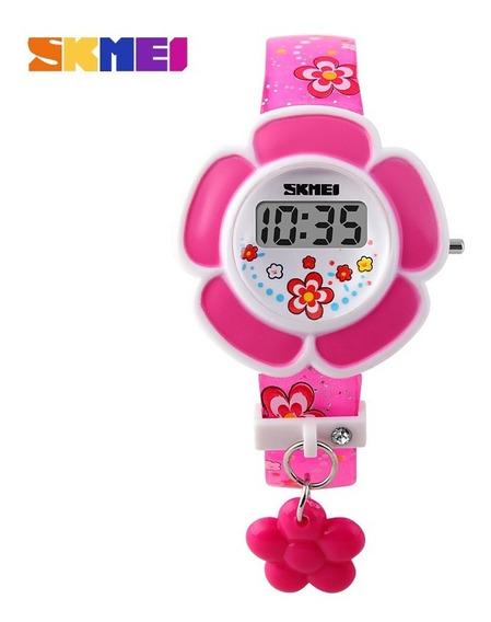 Relógio Infantil Menina Flor Skmei Dg1144 Digital Charme