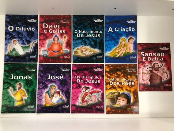 Box Coleção Histórias Bíblicas Favoritas 9livros+ Cd Narrado