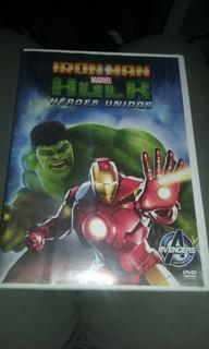 Dvd Iron Man Hulk Marvel Heroes Unidos