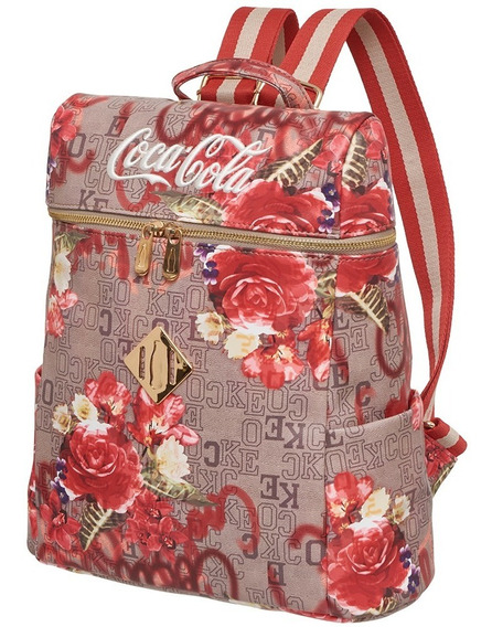 Mochila Costas Coca Cola Monograma Estampada-pacific 7118805